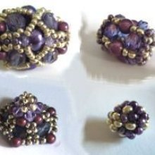 Notice perles perlées Java violet