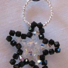 Notice suspension Noël étoile noire et cristal