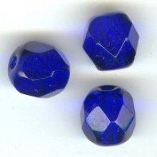 Facette 6mm bleu cobalt x10