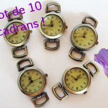 Lot de 10 cadrans de montre bronze rétro