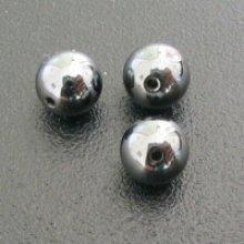Perle hematite ronde 6mmx10