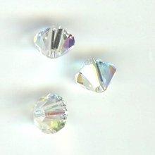 Toupie 4mm crystal ab x 12