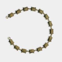 Bracelet de sertis de navette doré vieilli