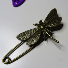 Epingle broche Libellule bronze vieilli