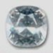 Cabochon swarovski carré 12mm Crystal