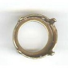 Sertissure ronde Rivoli  14mm doré vieilli