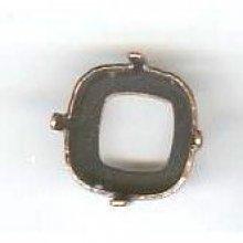 Sertissure carré 12mm cuivre vieilli