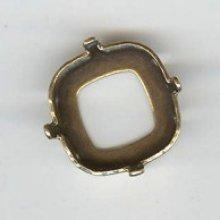 Sertissure carré 12mm doré vieilli