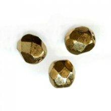 Facette 4mm bronze  dore x20