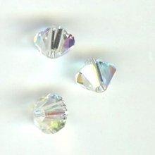 Toupie 4mm crystal ab x 300
