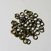Anneaux bronze vieilli 5 mm x 50