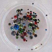 Strass mix de couleurs et tailles x 3gr